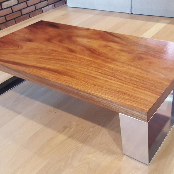 Monkey Pod Coffee Table Modern Solid Slab