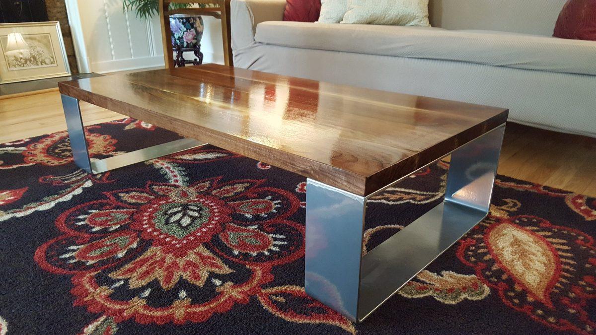 Modern Black Walnut Coffee Table