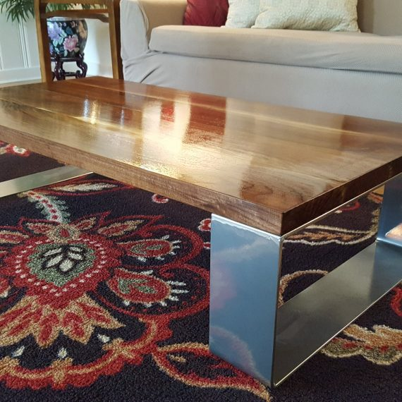Modern Black Walnut Coffee Table