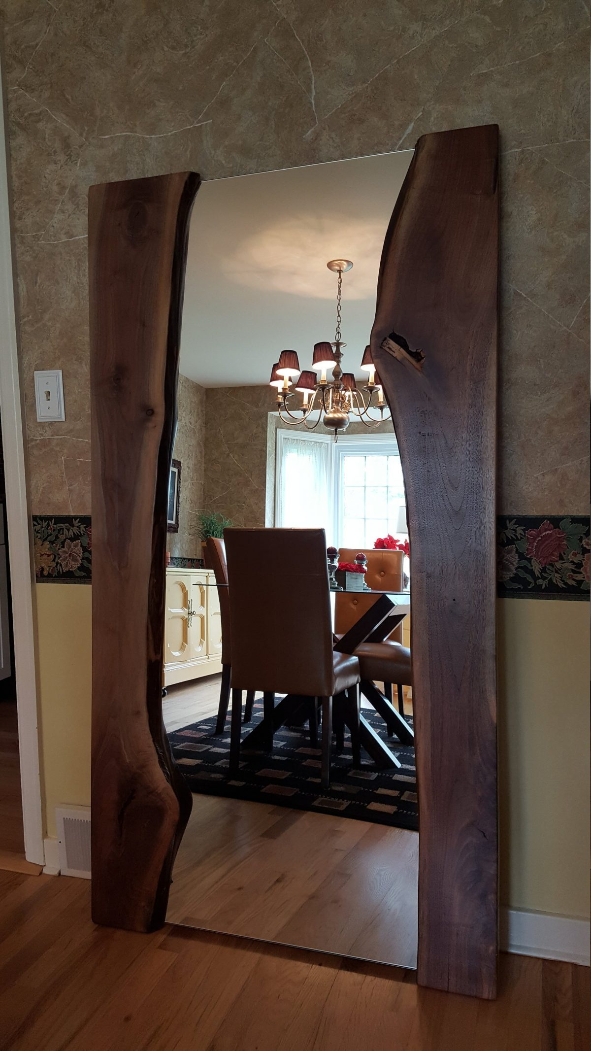 CUSTOM Live Edge Black Walnut Mirror