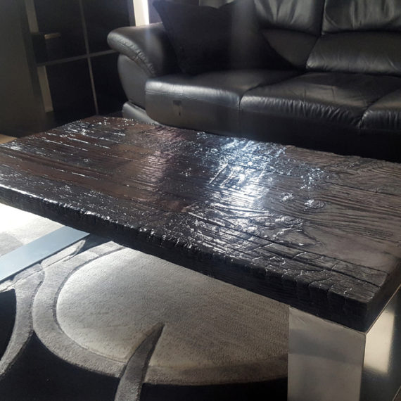 Modern Shou Sugi Ban Coffee Table