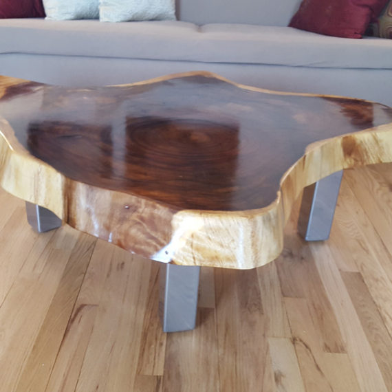 Monkey Pod Crosscut Table