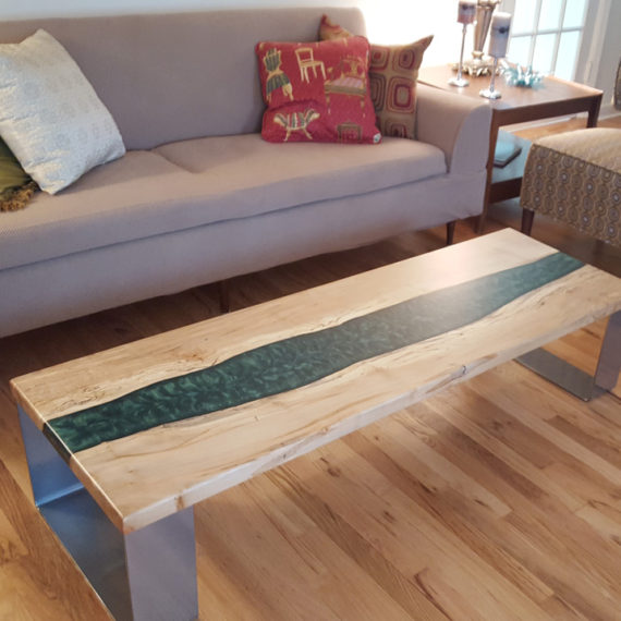 Maple Resin River Table