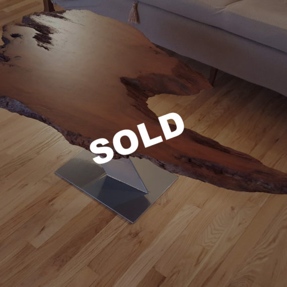 Live Edge Redwood Slab Cantilevered Coffee Table – SOLD